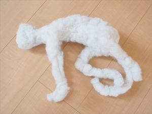 【ウェルカムドール】綿を付けた状態