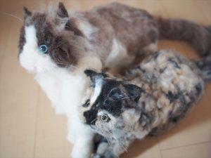【ウェルカムドール】羊毛フェルトのウェルカムキャット完成