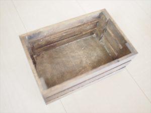 【手作りナチュラル系リングケース】ダイソー 木箱(ブライワックス塗装済み)