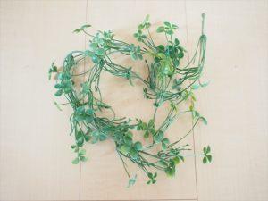 【手作りナチュラル系リングケース】100円ショップ 蔦 造花