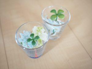 【手作りナチュラル系リングケース】グラスの中に指輪