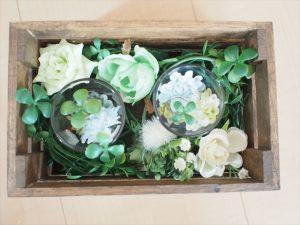 【手作りナチュラル系リングケース】花を敷き詰める