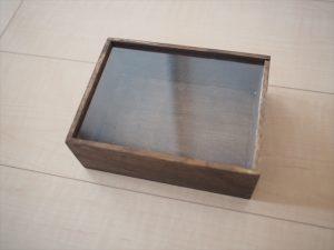 【手作りリングピロー】ダイソー 木箱